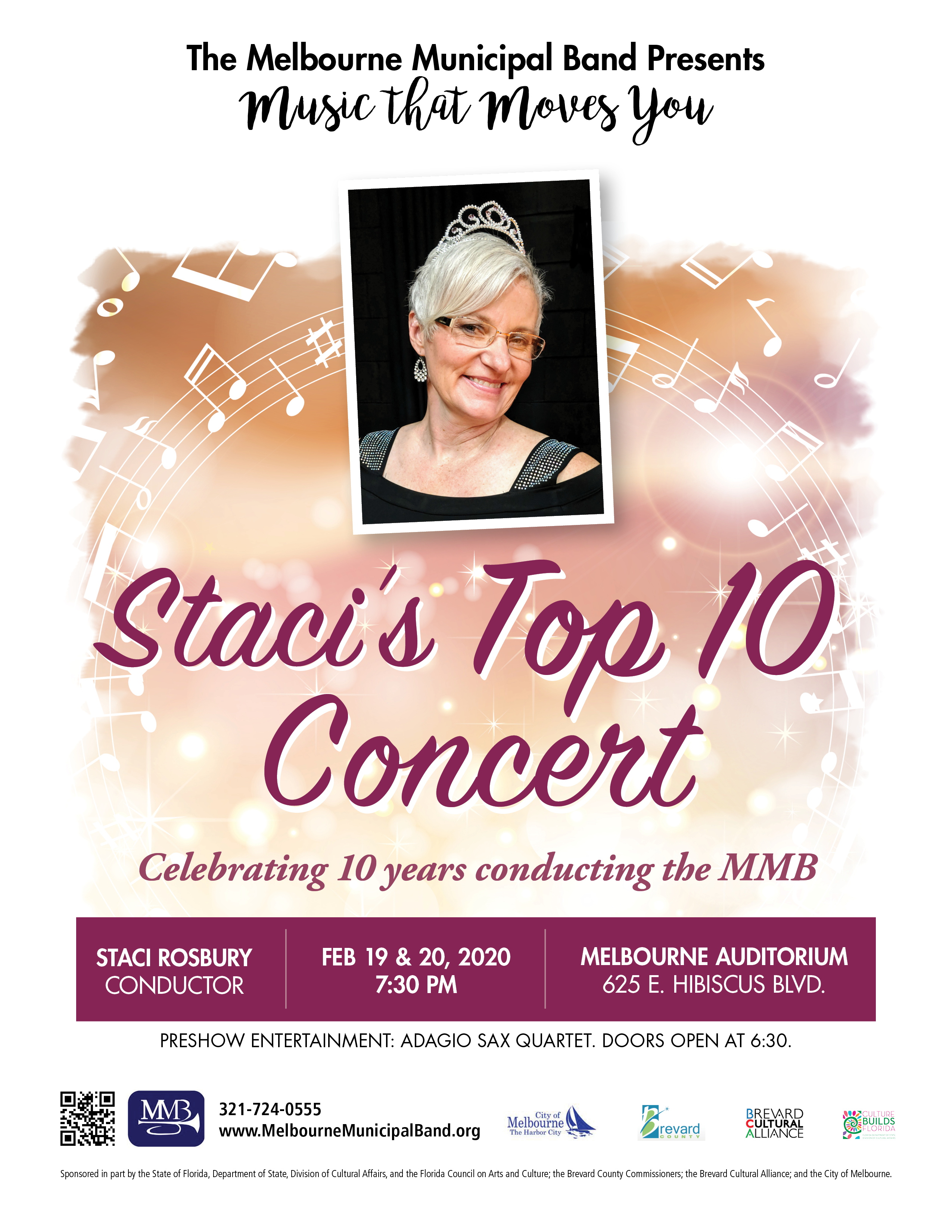 'Staci's Top 10 Concert' presented by The Melbourne Municipal Band
