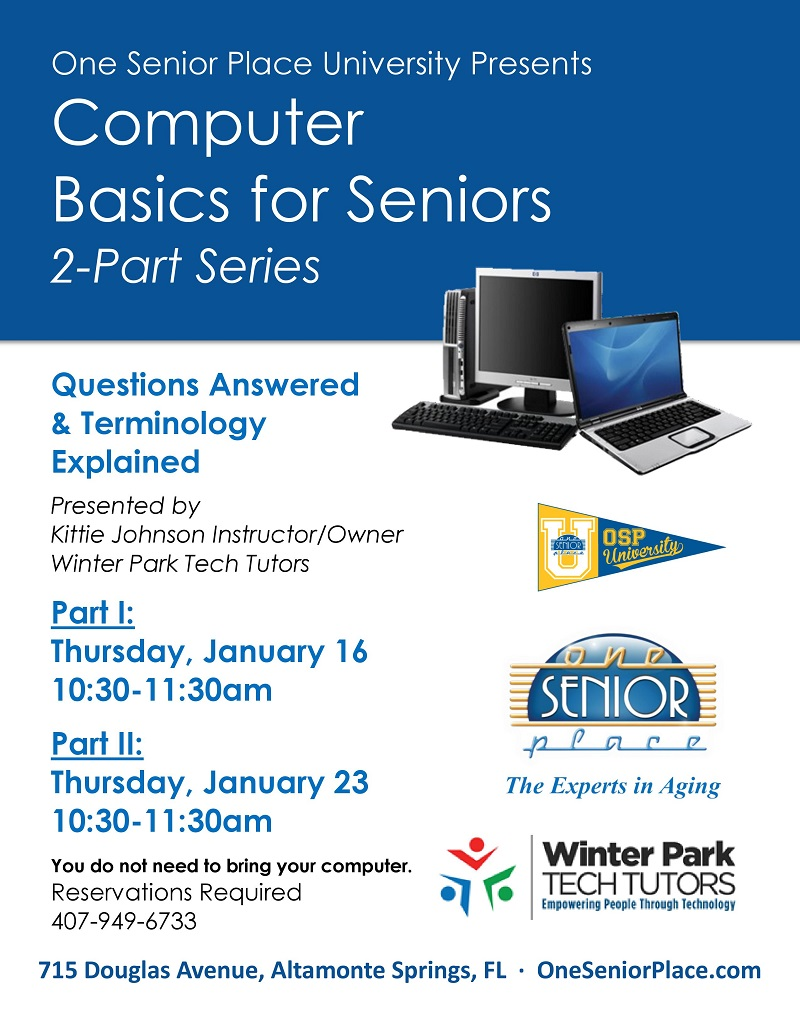 Computer Basics for Seniors Part 2