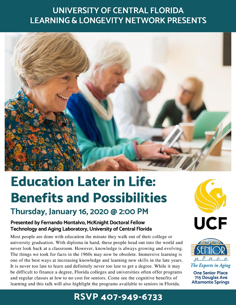 Education Later in Life: Benefits and Possibilities