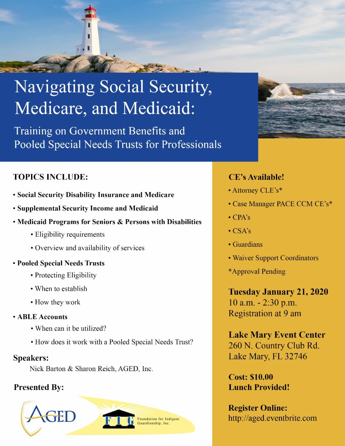 CE Event: Navigating Social Security, Medicare, and Medicaid