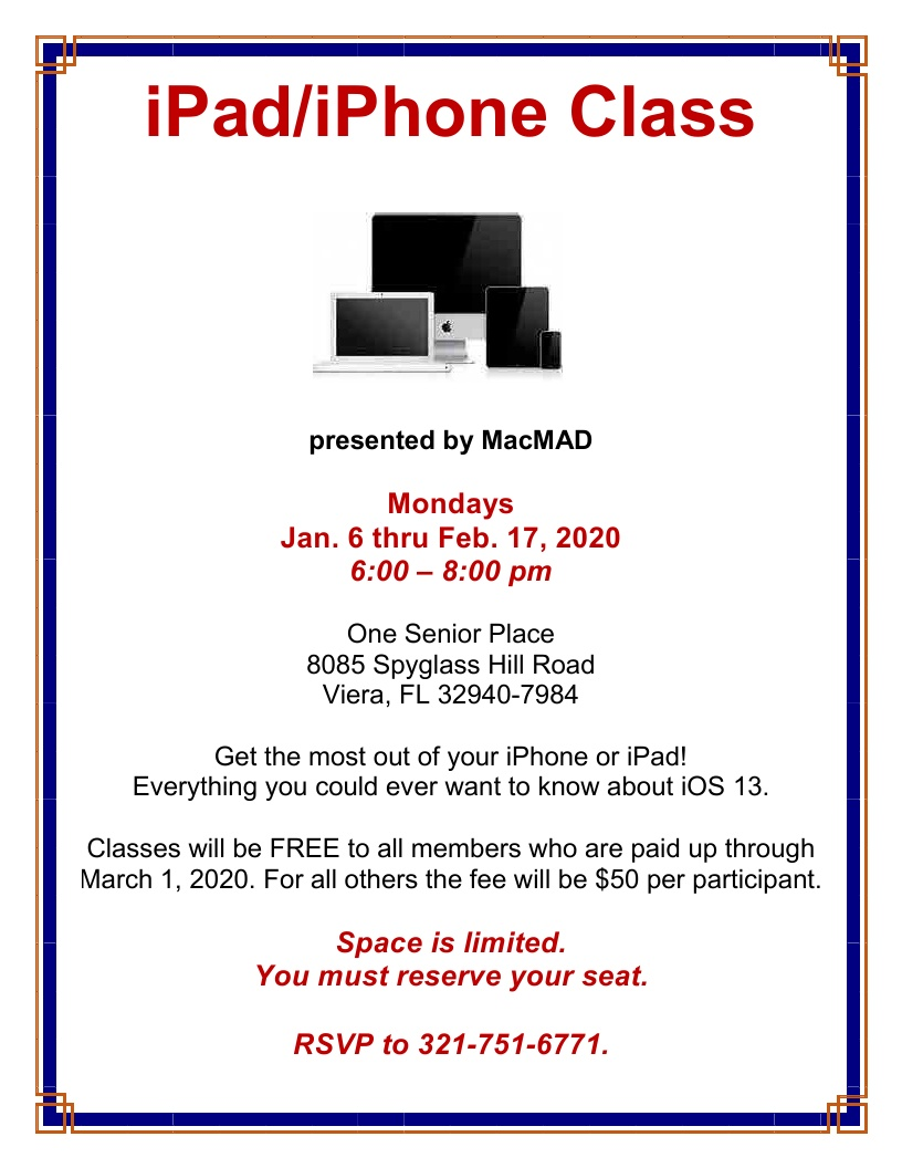 iPad/iPhone Class Series presented by MacMAD