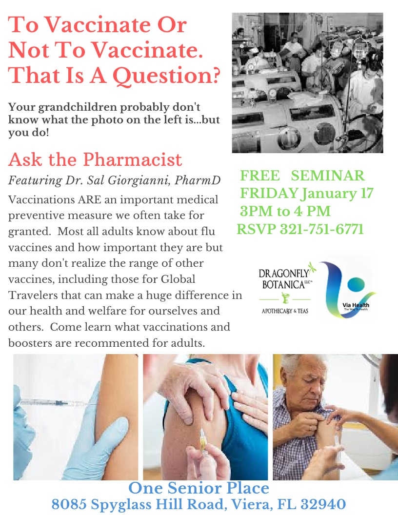 To Vaccinate Or Not To Vaccinate.  That Is A Question? featuring Dr. Sal Giorgianni, PharmD