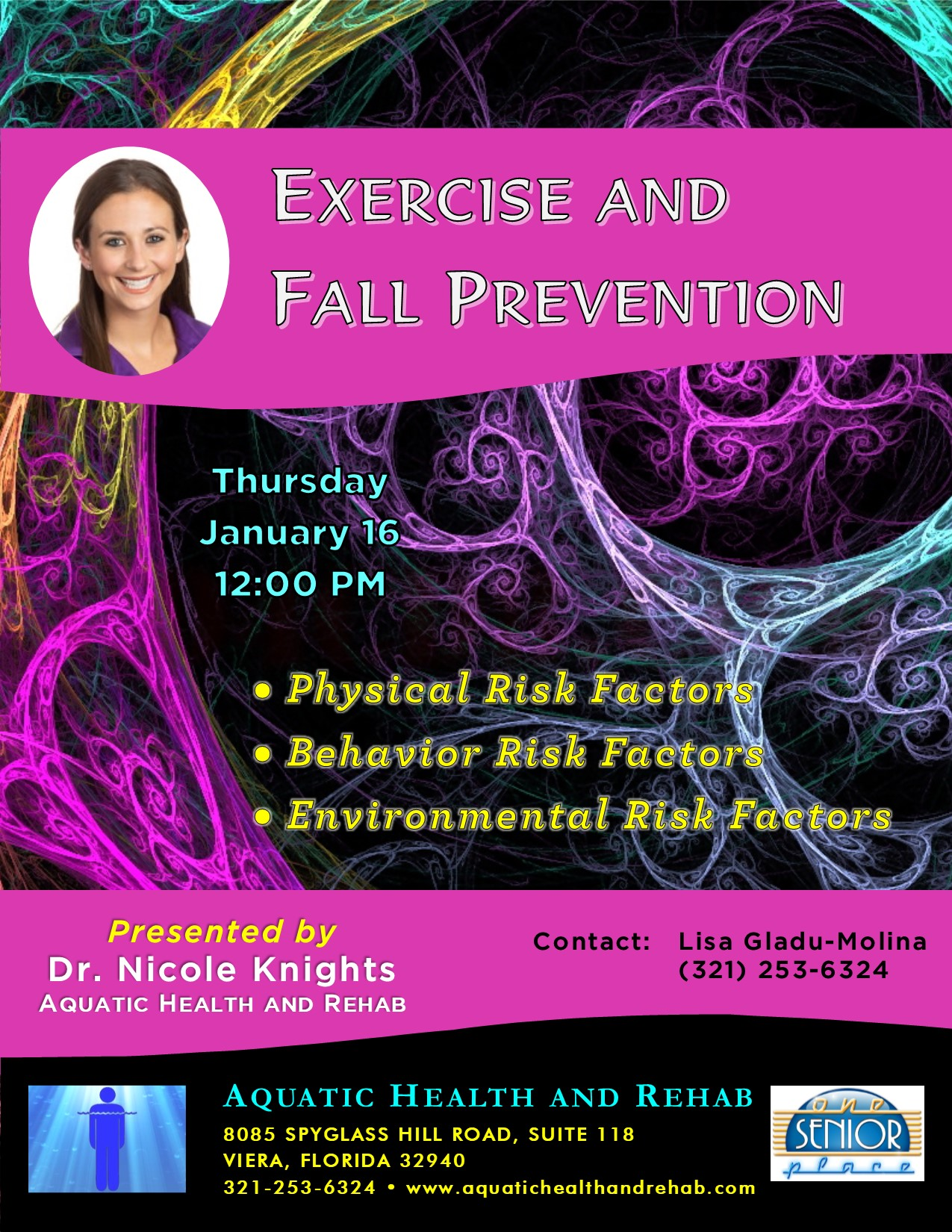 Exercise and Fall Prevention presented by Aquatic Health and Rehab