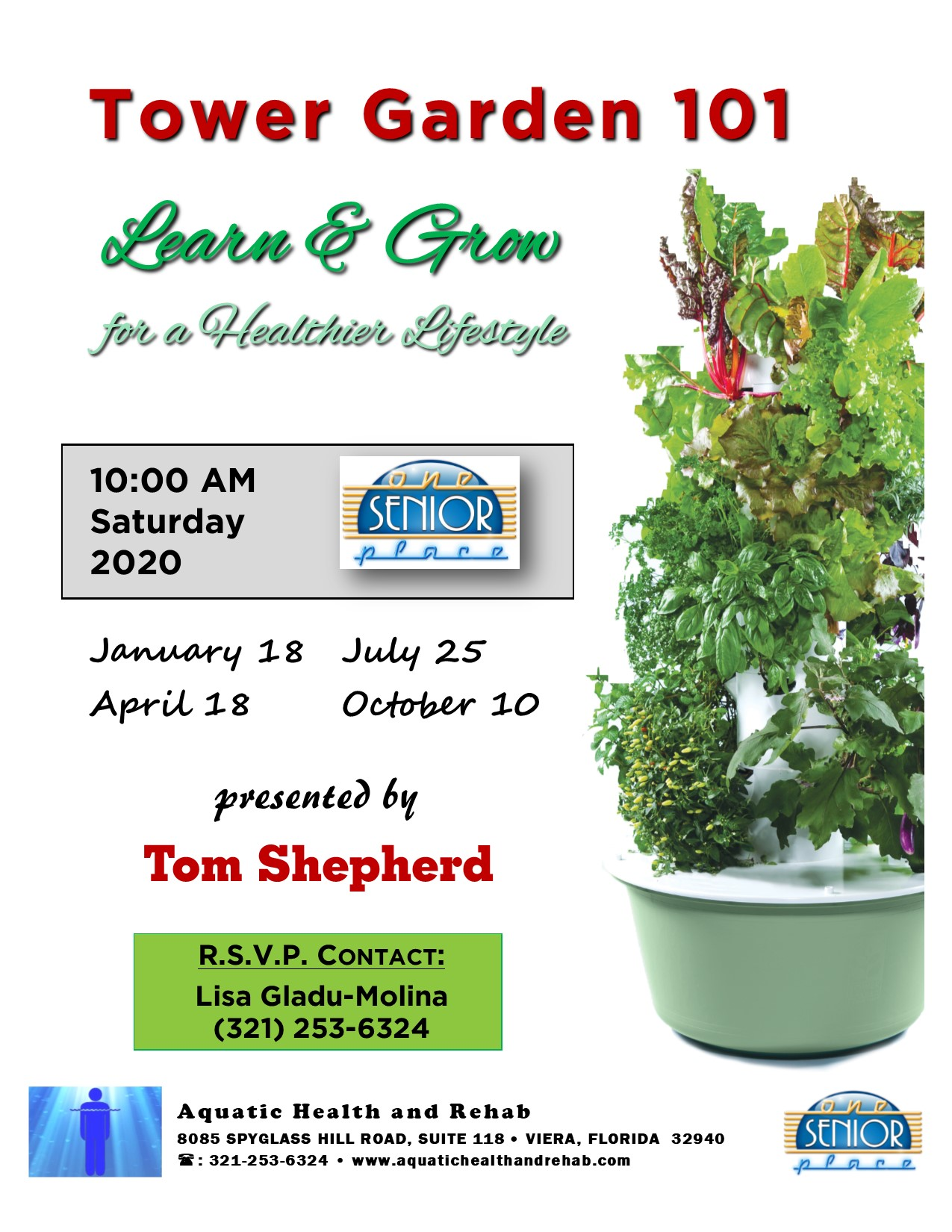 Tower Garden 101 presented by Aquatic Health and Rehab
