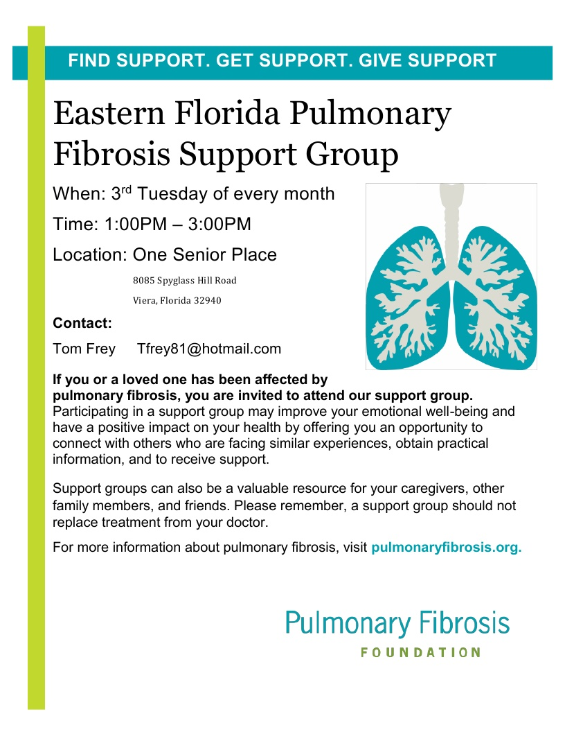 CANCELLED UNTIL FURTHER NOTICE - Eastern Florida Pulmonary Fibrosis Support Group