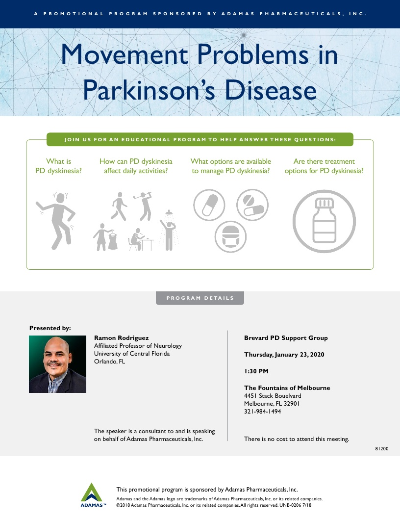'Movement Problems in Parkinson's Disease' at The Fountains of Melbourne