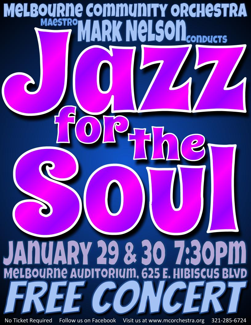 'Jazz for the Soul' presented by Melbourne Community Orchestra