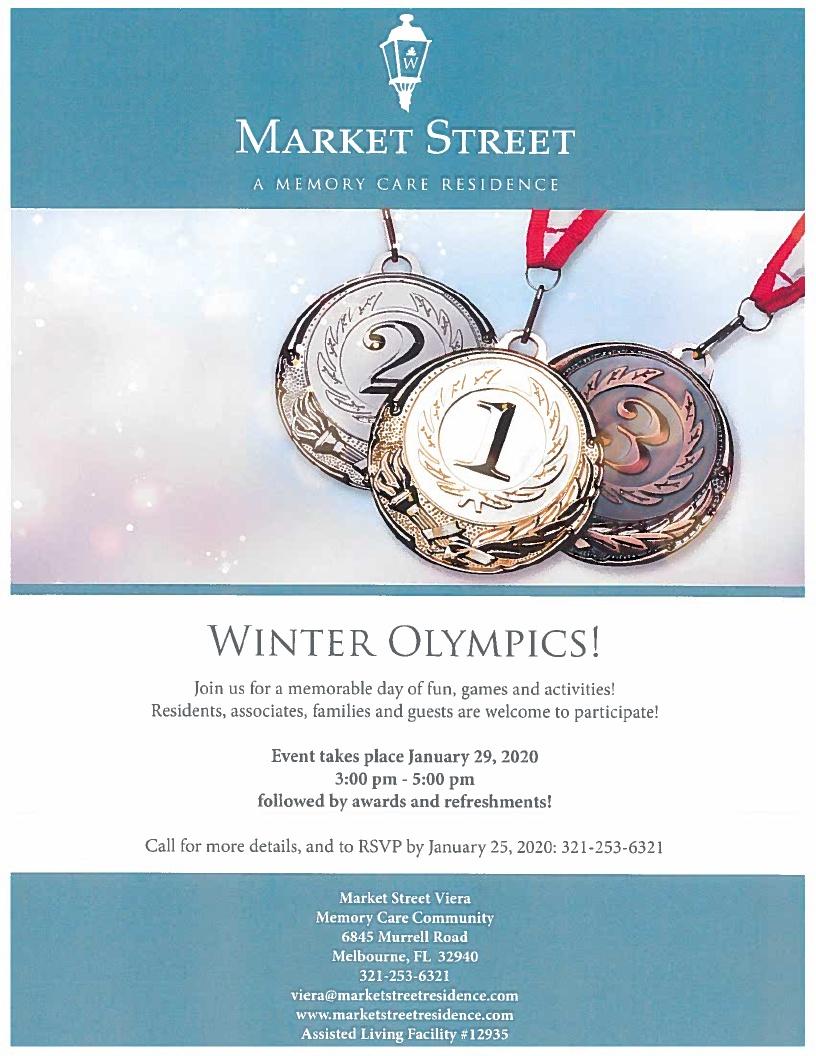 'Winter Olympics!' at Market Street Viera Memory Care Community