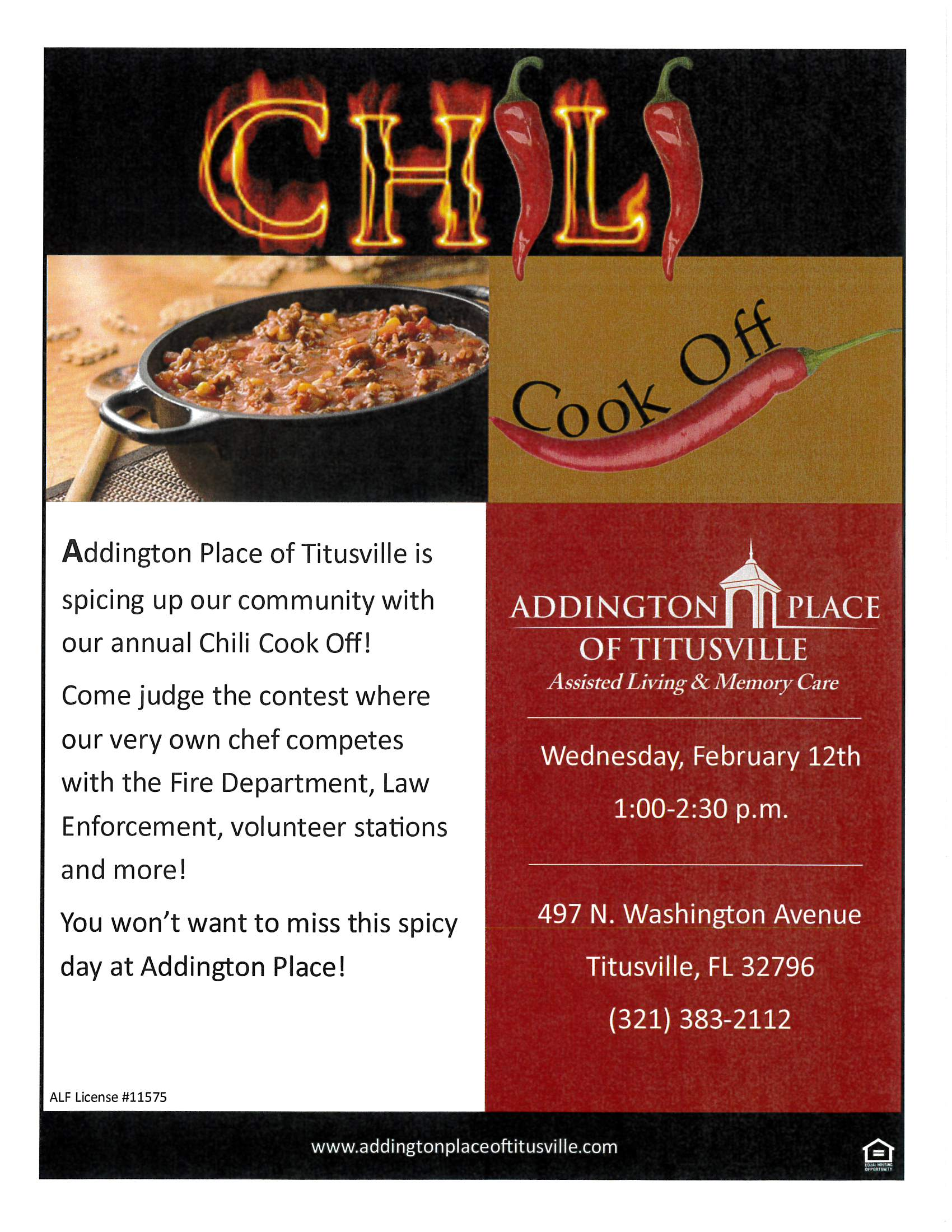 'Chili Cook Off' at Addington Place of Titusville