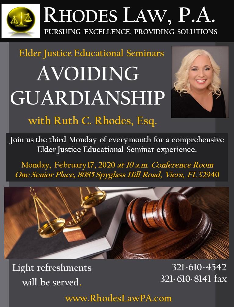 'Avoiding Guardianship' with Ruth C. Rhodes, Esq.