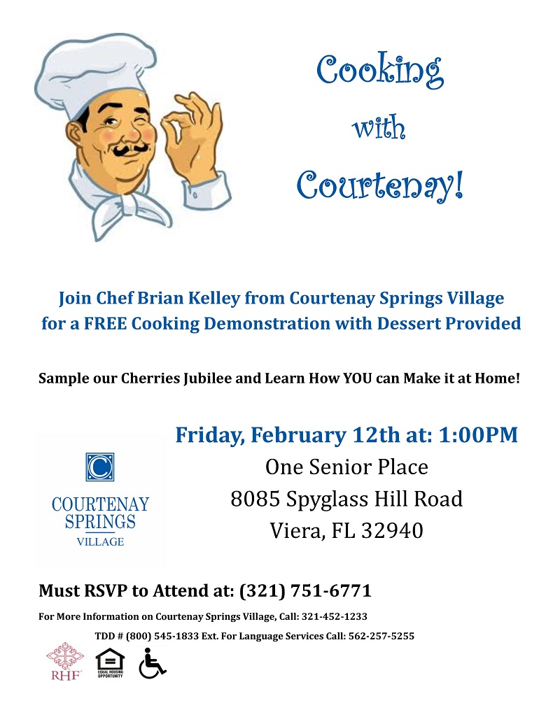 Cooking with Courtenay Springs Village