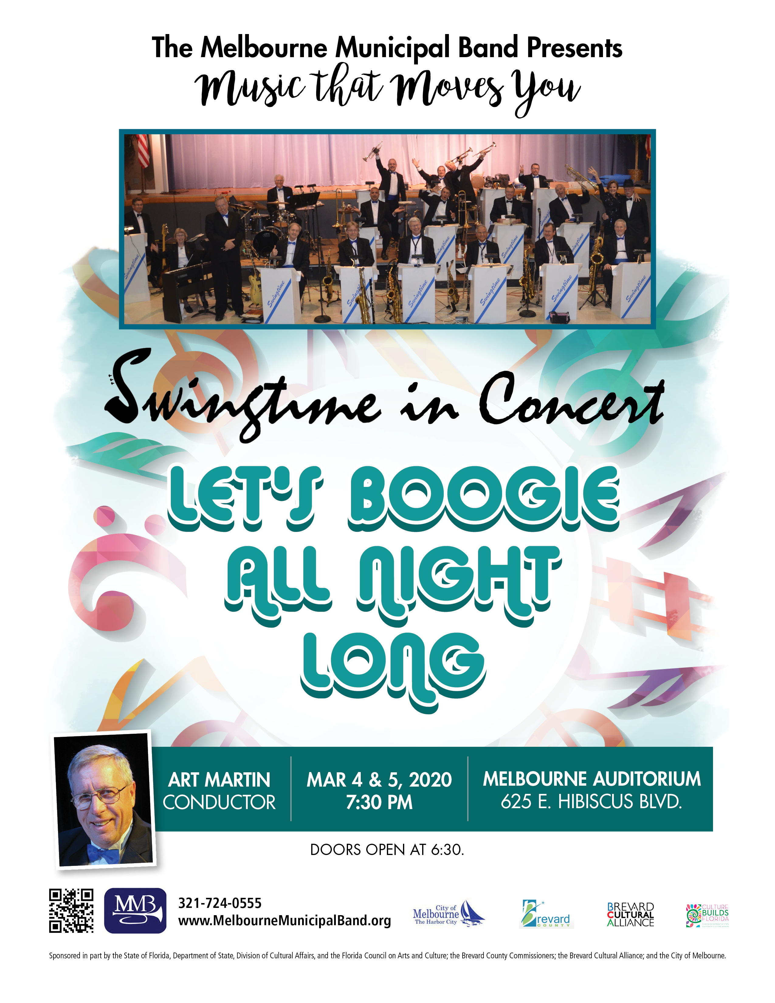 'Let's Boogie All Night Long' presented by The Melbourne Municipal Band