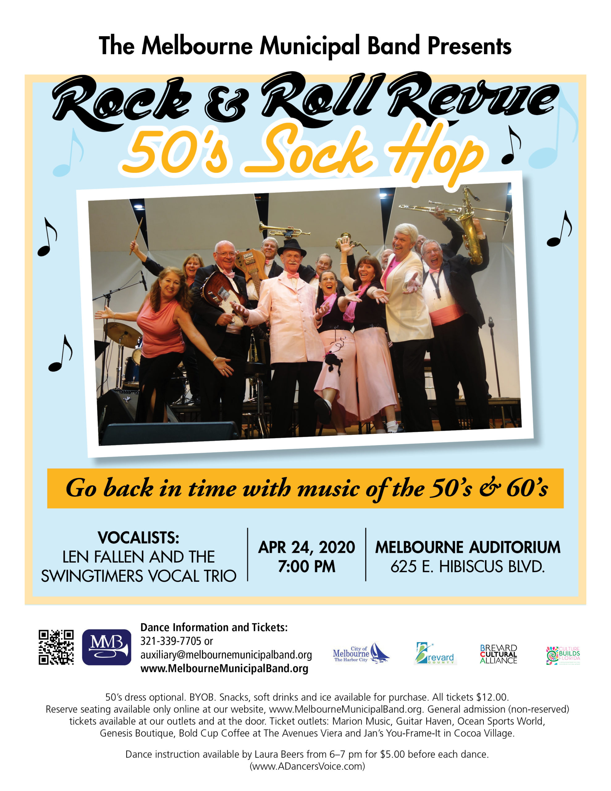 CANCELLED - Rock & Roll Revue 50's Sock Hop presented by The Melbourne Municipal Band