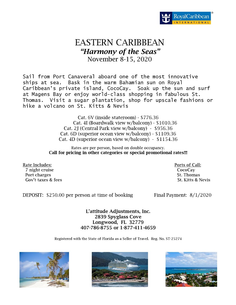 "CRUISE: Eastern Caribbean ""Harmony of the Seas"""