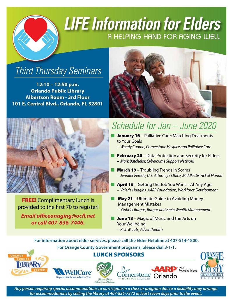 LIFE Information for Elders Third Thursday Seminars