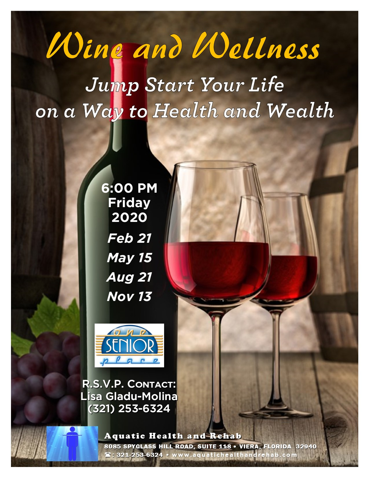 Wine and Wellness, presented by Aquatic Health and Rehab