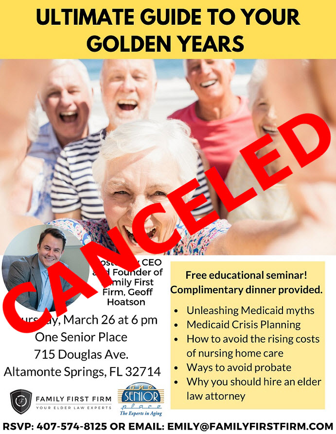 CANCELED: The Ultimate Guide to Your Golden Years