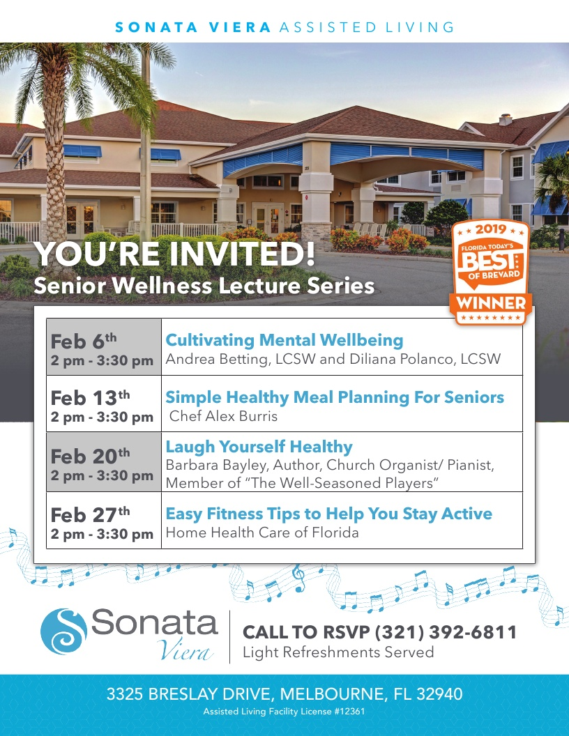 You're Invited!  Senior Wellness Lecture Series at Sonata Viera