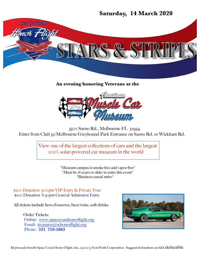 'Stars & Stripes' an Evening Honoring Veterans at the Muscle Car Museum