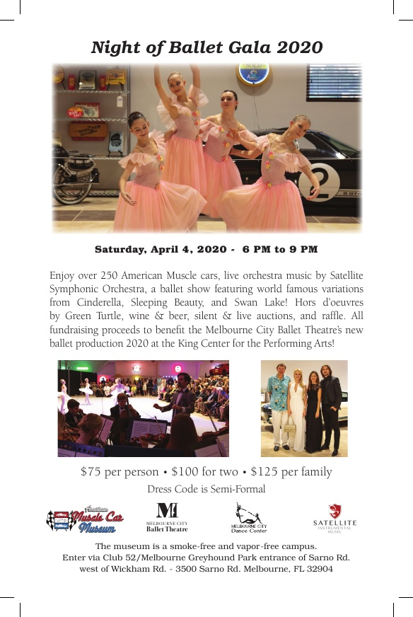 CANCELLED - Night of Ballet Gala 2020 at the American Muscle Car Museum