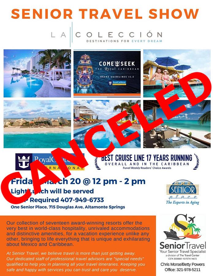 CANCELED: Senior Travel Show Luncheon