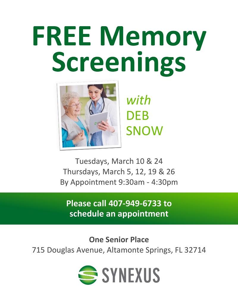 CANCELED: Free Memory Screening