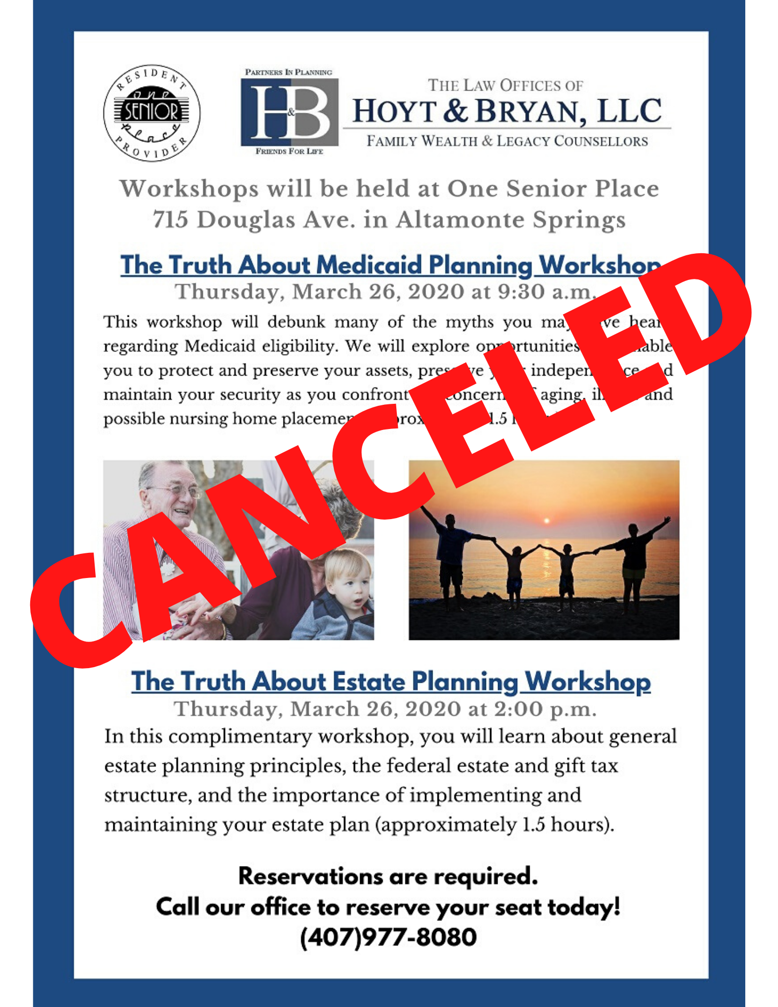 CANCELED: The Truth About Estate Planning Workshop