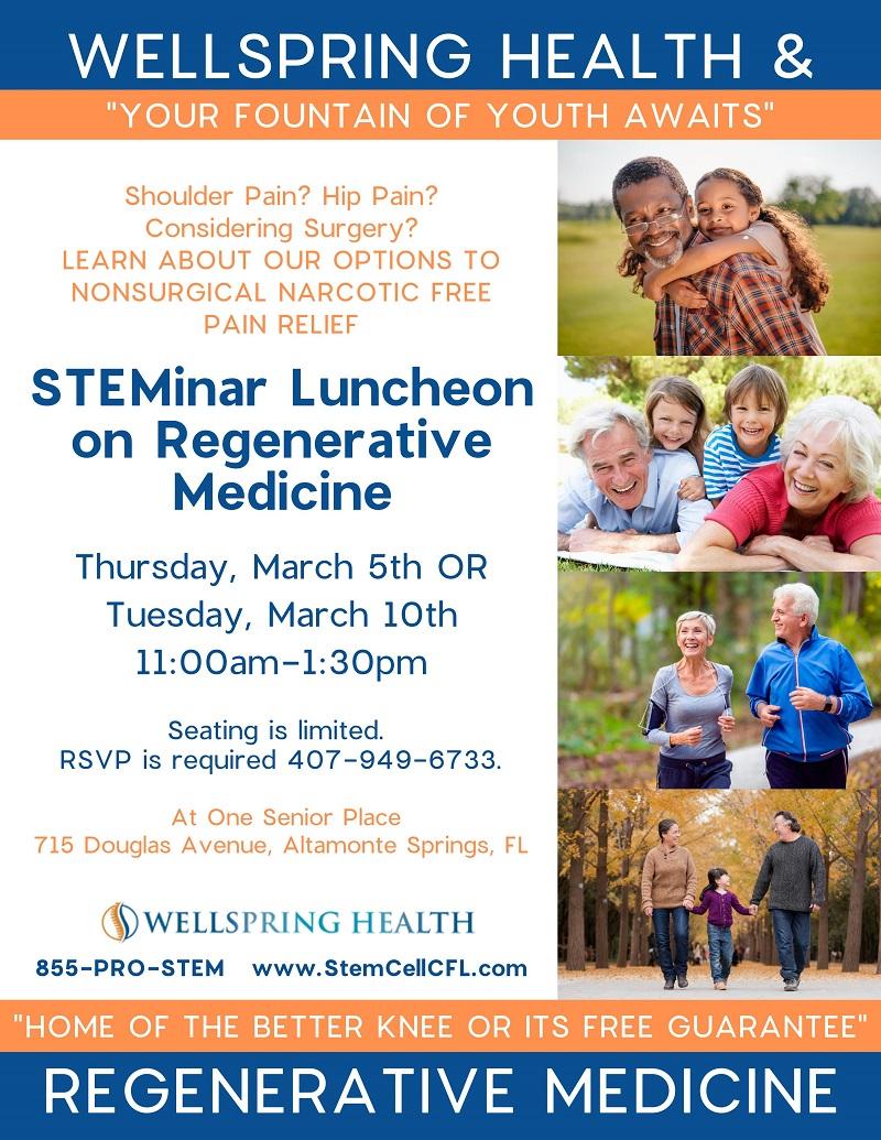 STEMinar Luncheon on Regenerative Medicine
