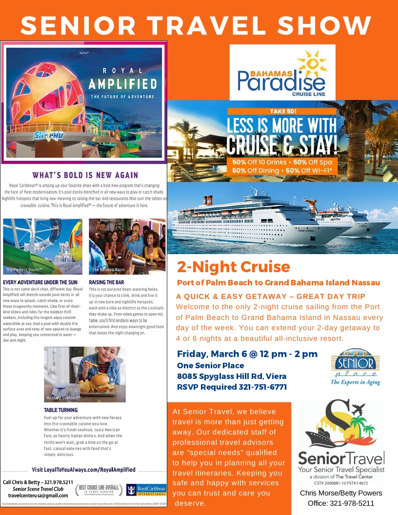 Less Is More With Cruise and Stay hosted by Senior Travel