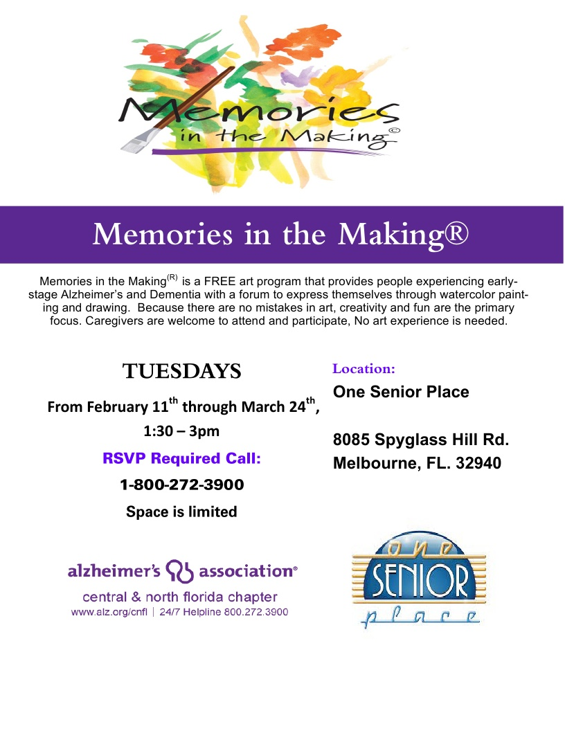 Memories in the Making, Presented by VITAS Healthcare and Alzheimer's Association Central and North Florida Chapter