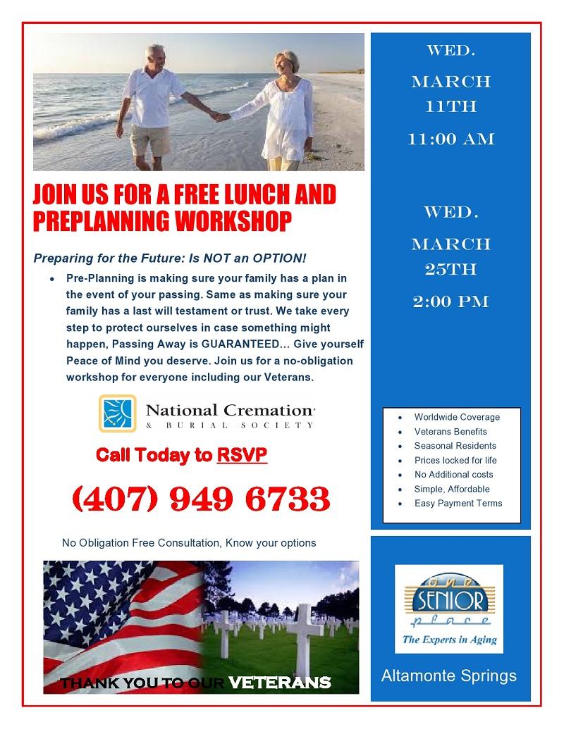 Pre-Planning Workshop Luncheon