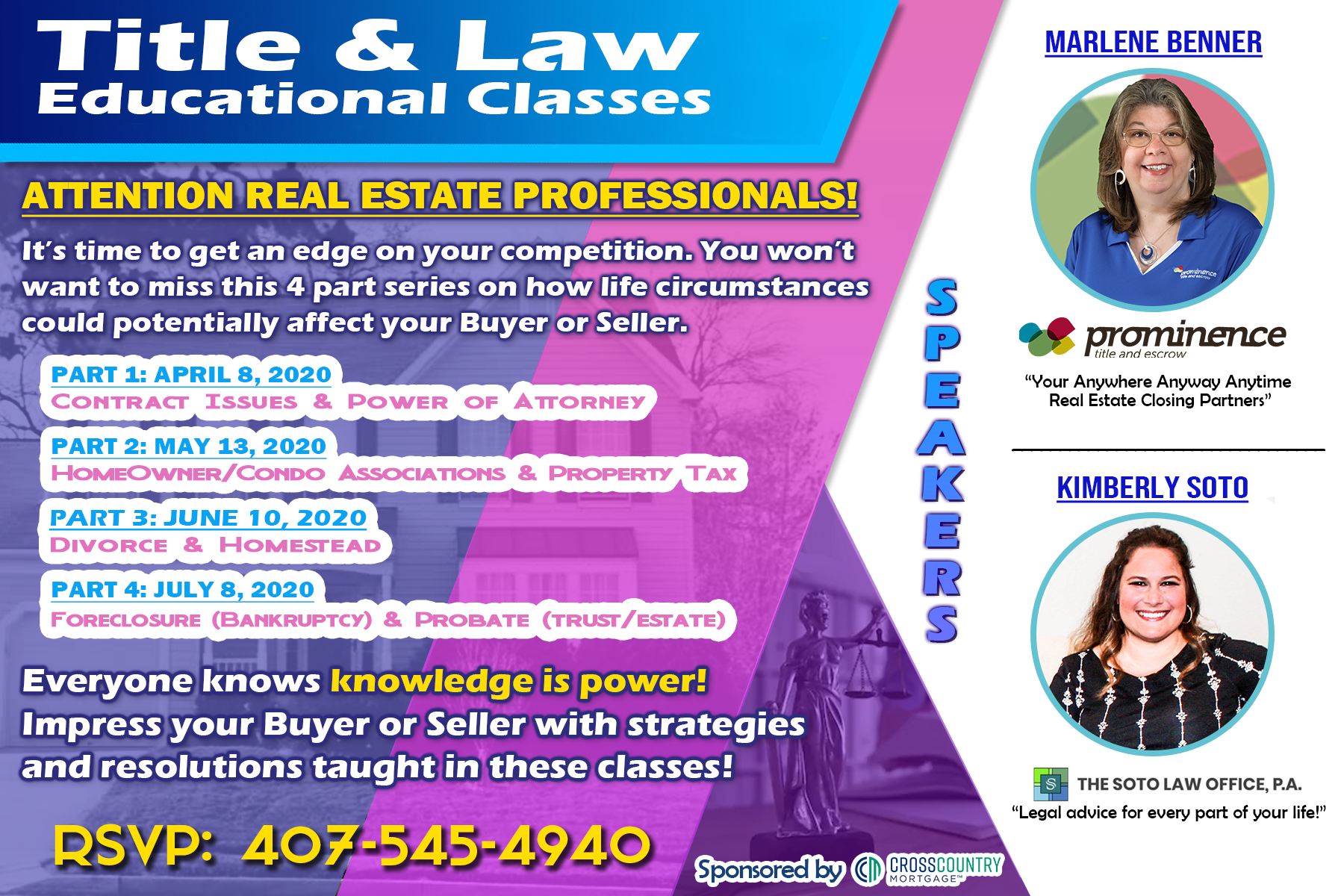 Title & Law Educational Classes – Part III of IV: Divorce & Homestead