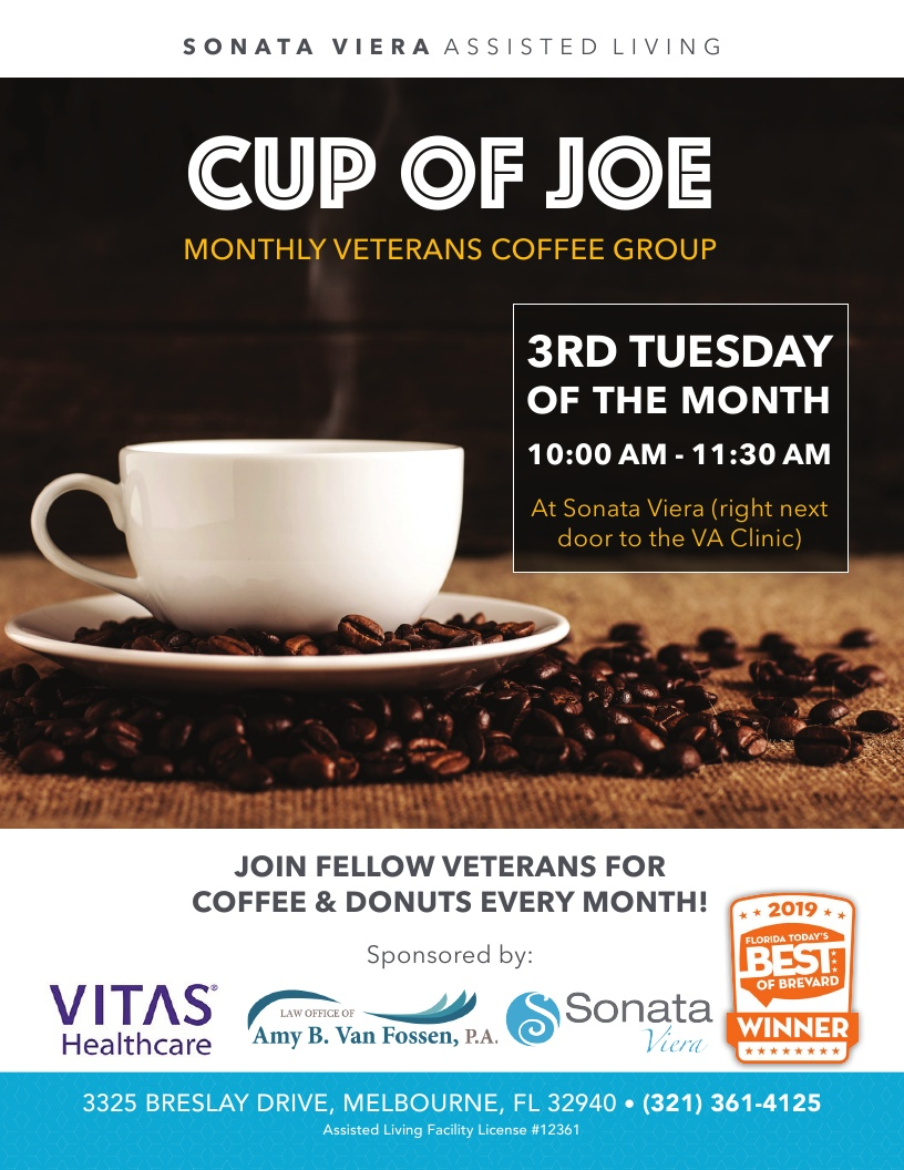'Cup of Joe' Monthly Veterans Coffee Group at Sonata Viera