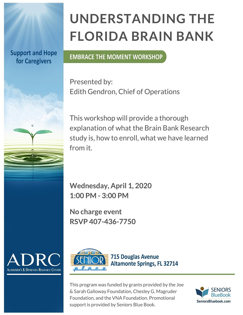 CANCELED: Understanding the Florida Brain Bank