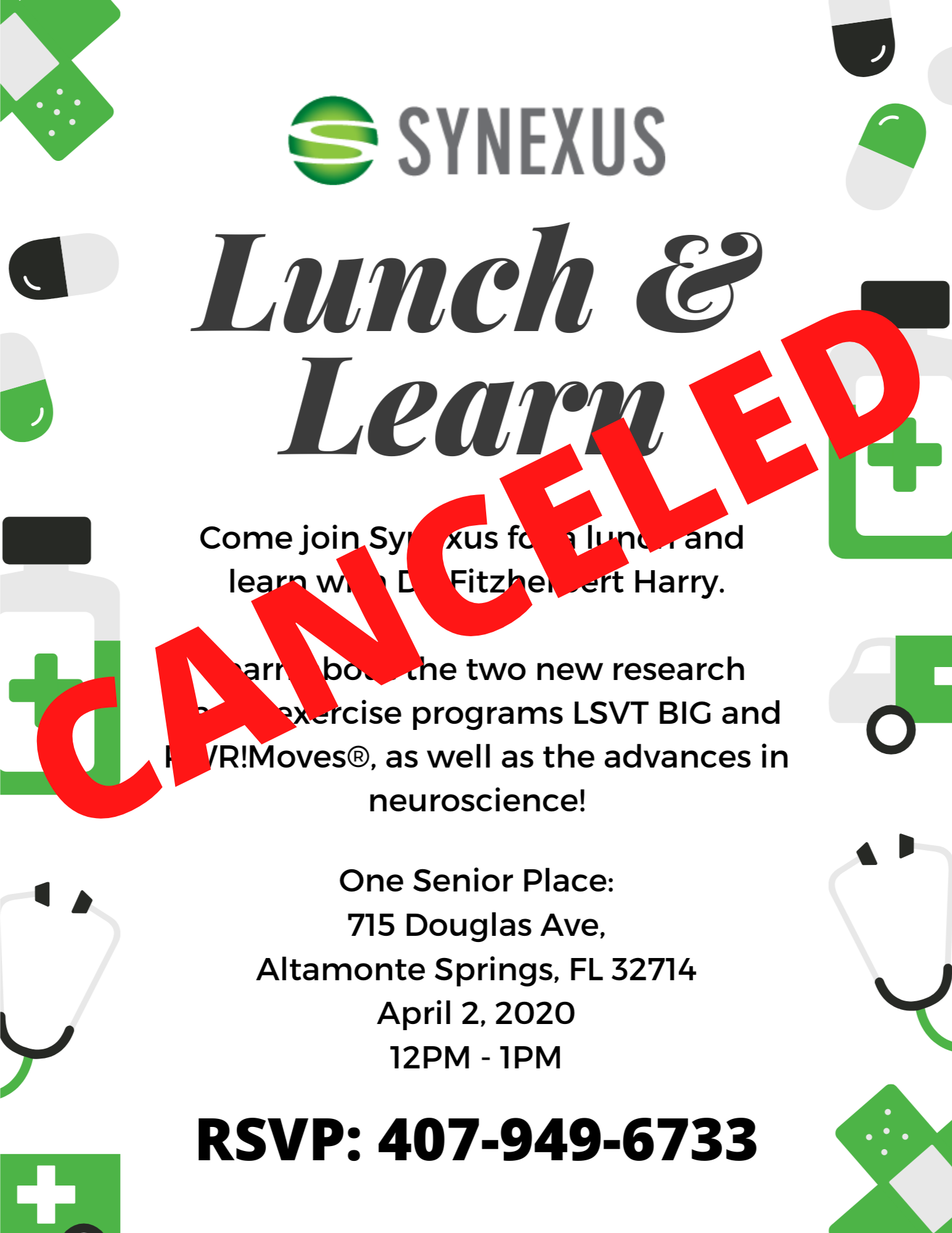 CANCELED: Synexus Lunch & Learn