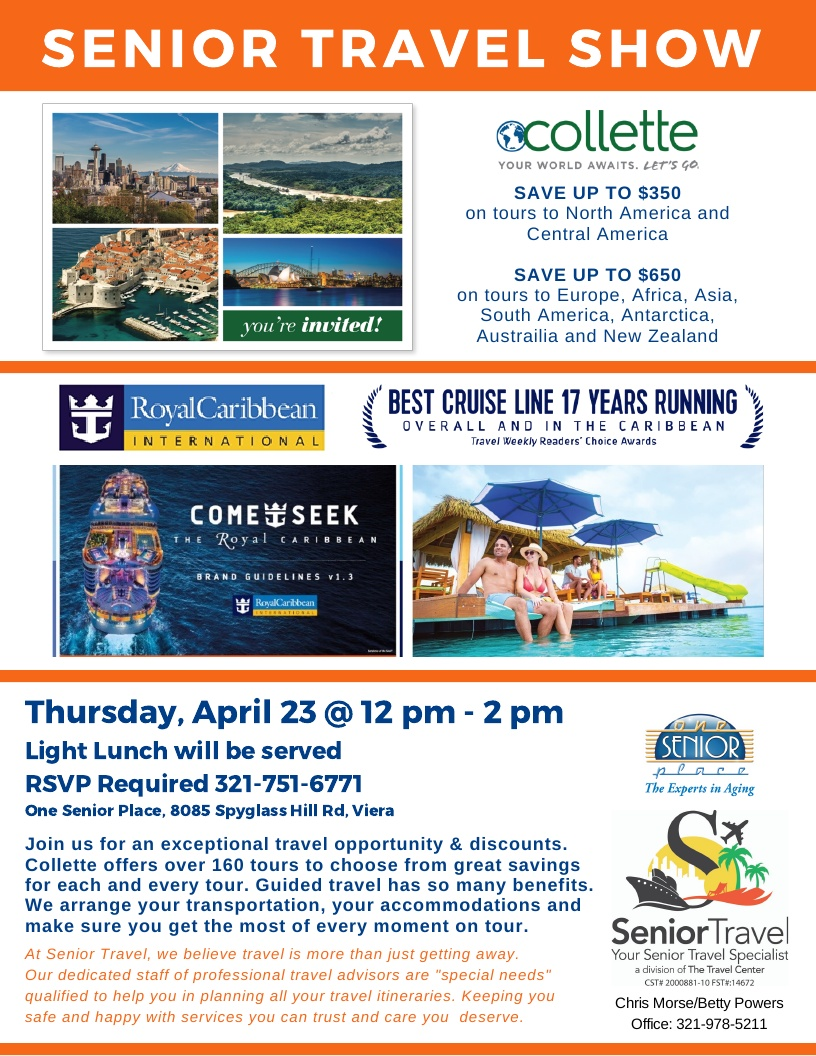 CANCELLED - Collette Tours and Royal Caribbean Cruise Line Vacations hosted by Senior Travel