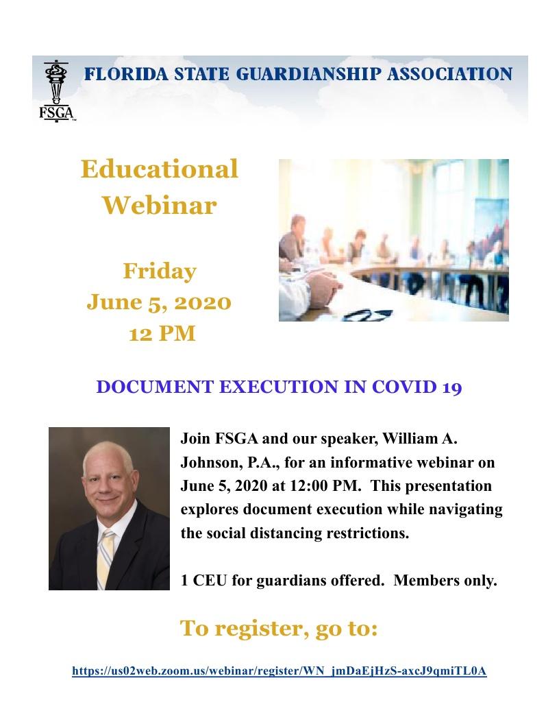 Document Execution in COVID-19 Educational Webinar