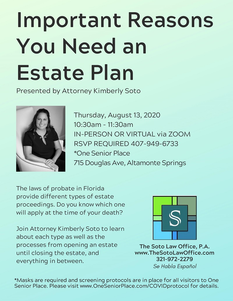 Important Reasons Why You Need An Estate Plan