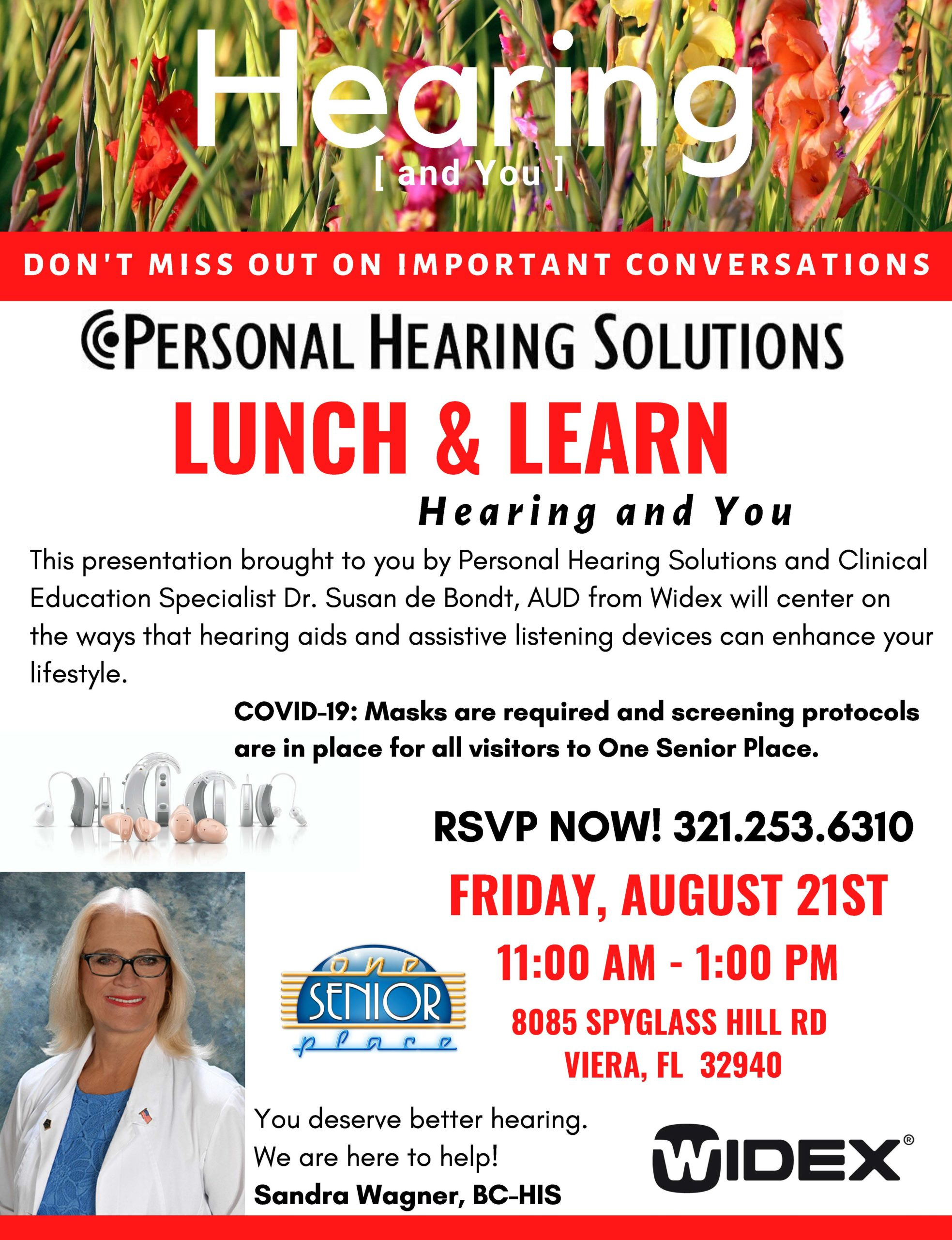 Hearing (and You) Lunch and Learn Seminar presented by Personal Hearing Solutions