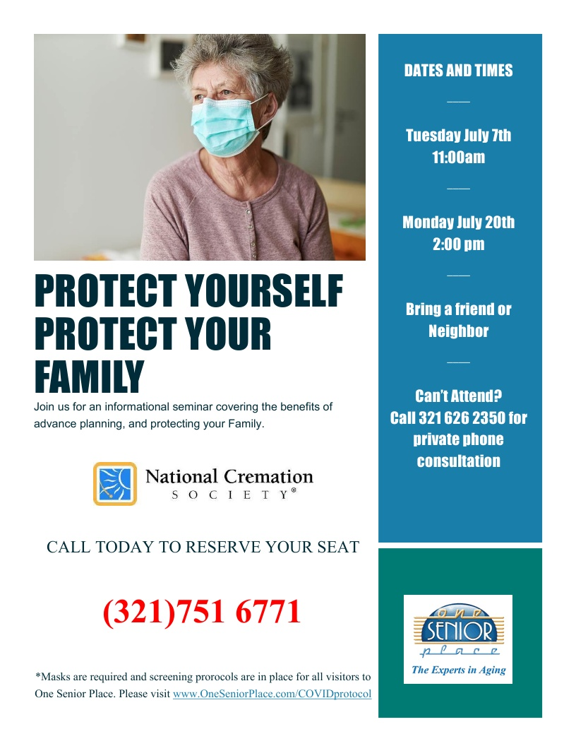 Protect Yourself, Protect Your Family Pre-Planning Workshop presented by National Cremation Society
