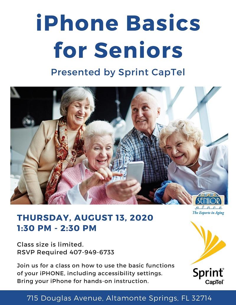 CANCELLED-iPhone Basics for Seniors