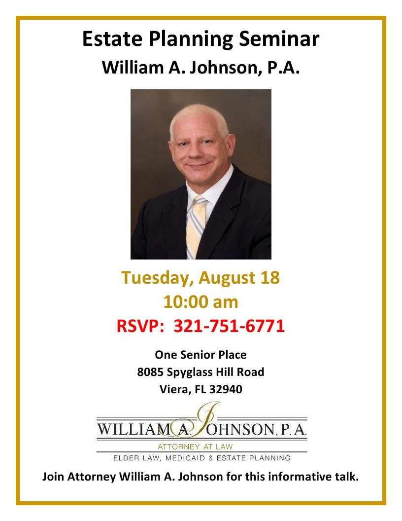 Estate Planning Seminar - William A. Johnson, P.A.