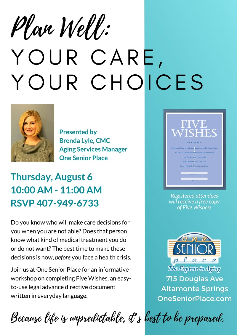 Plan Well: Your Care, Your Choices