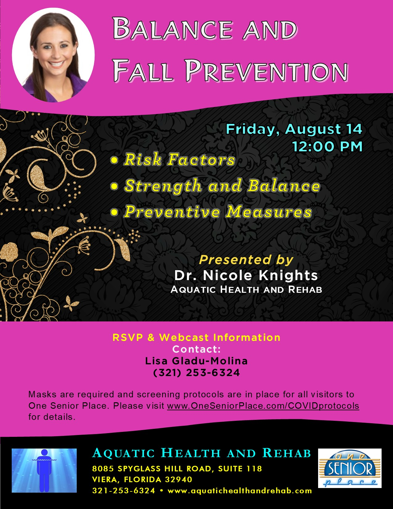 Balance and Fall Prevention presented by Dr. Nicole Knights, Aquatic Health and Rehab