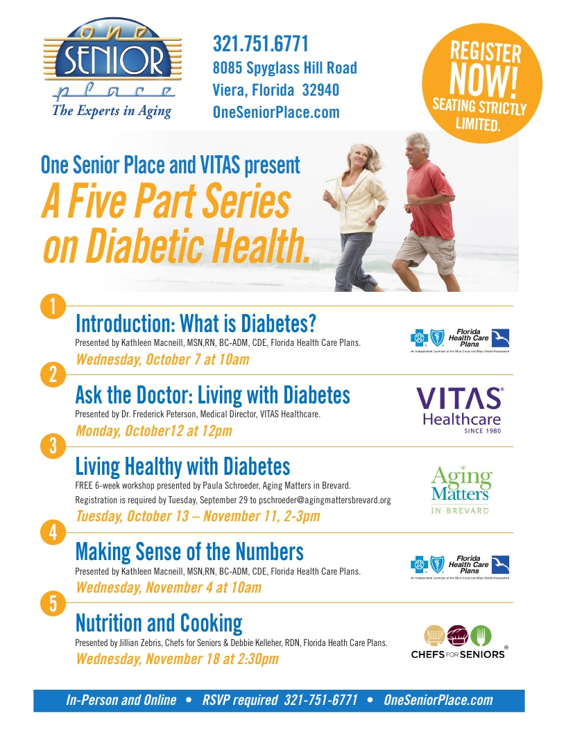 Diabetes & You: Nutrition and Cooking presented by Florida Health Care Plans