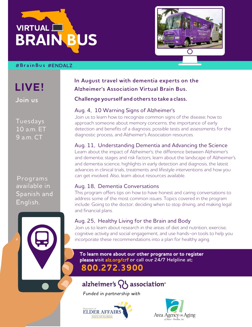 Virtual Brain Bus - 10 Warning Signs of Alzheimer's