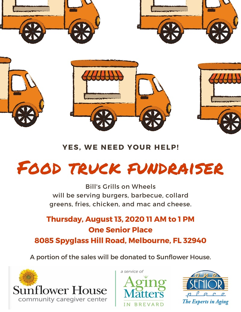 Food Truck Fundraiser, Bill's Grills on Wheels hosted by One Senior Place and Aging Matters in Brevard