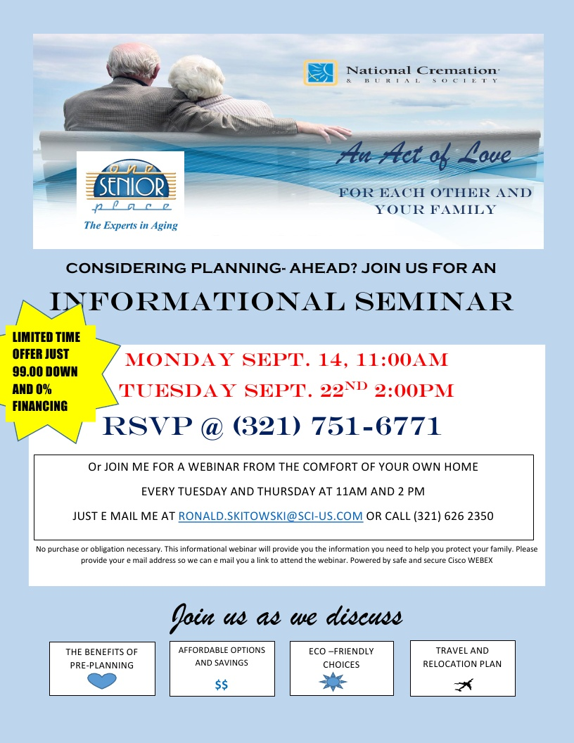 Pre-Planning Workshop presented by National Cremation Society