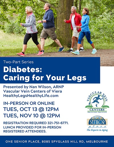 Two-Part Series Diabetes: Caring for Your Legs presented by Vascular Vein Centers