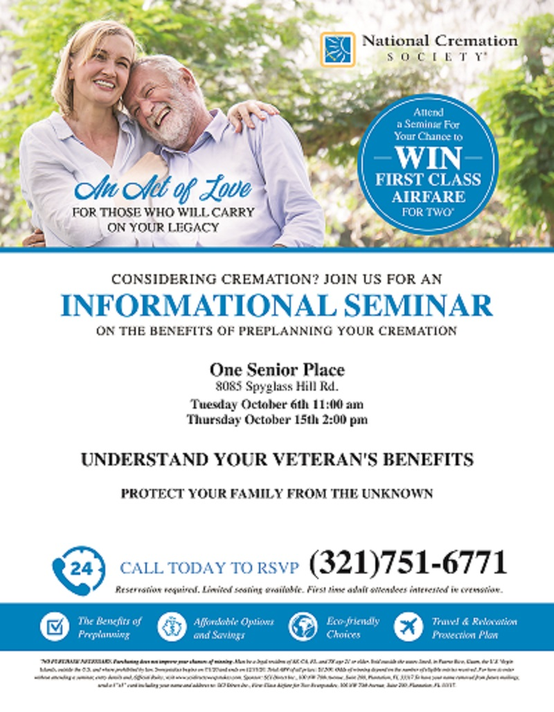 Understand Your Veteran's Benefits, Pre-Planning Workshop presented by National Cremation Society